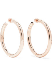 Samira rose gold-plated hoop earrings