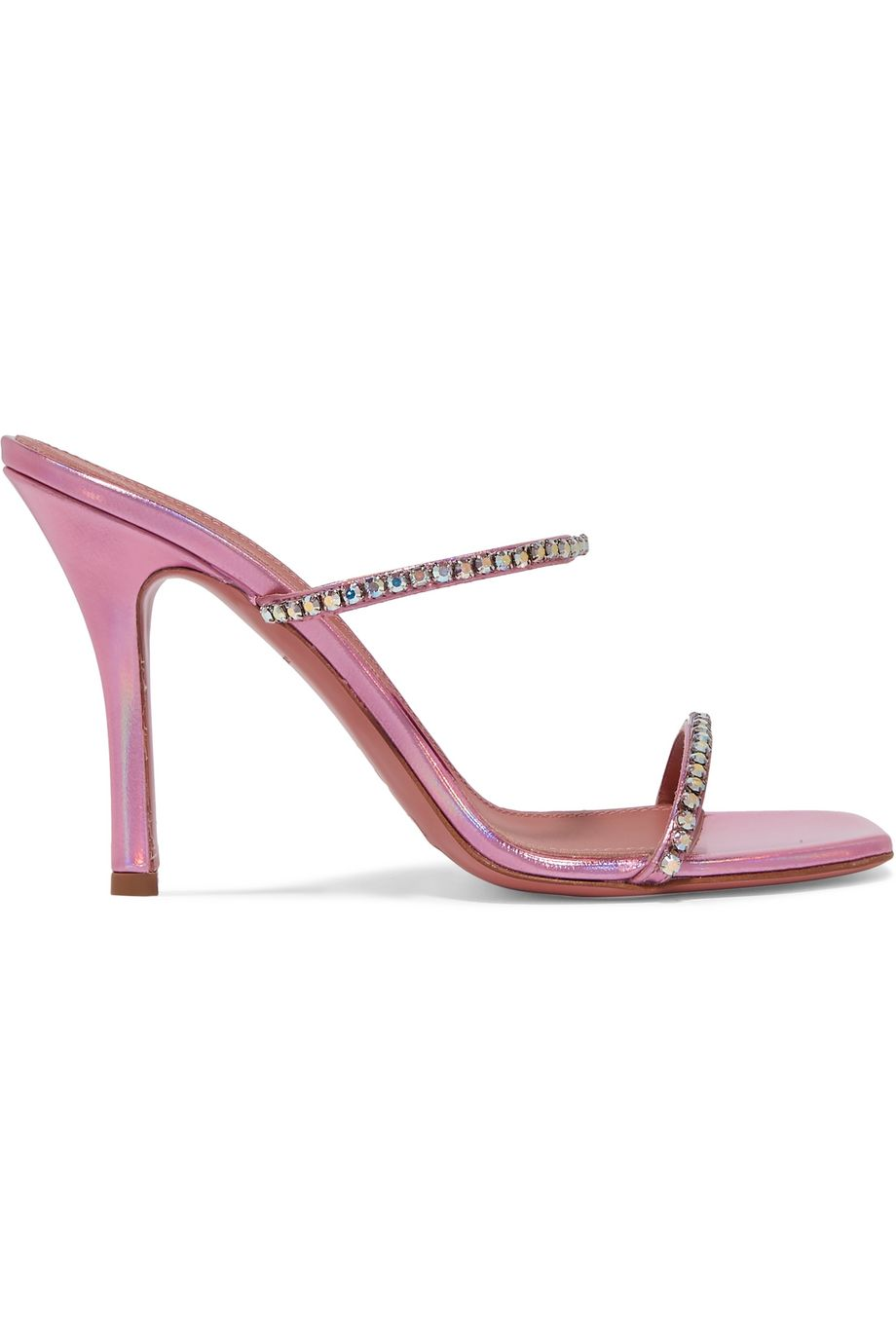 Gilda crystal-embellished metallic leather sandals by Amina Muaddi, available on net-a-porter.com for $336 Kylie Jenner Shoes Exact Product
