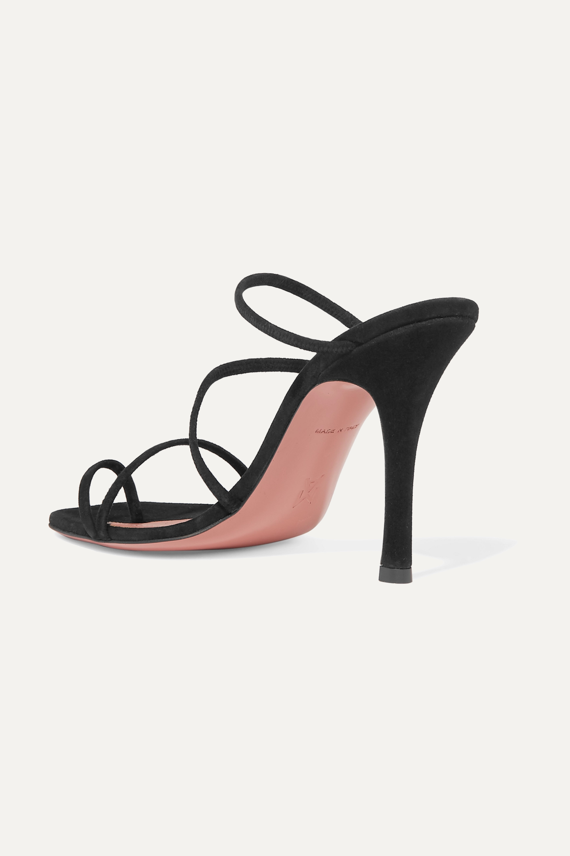 Amina Muaddi Naima suede sandals