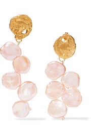 Alighieri Gold-plated pearl earrings