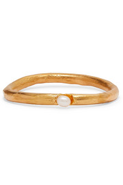 Dealer's Choice gold-plated pearl bangle