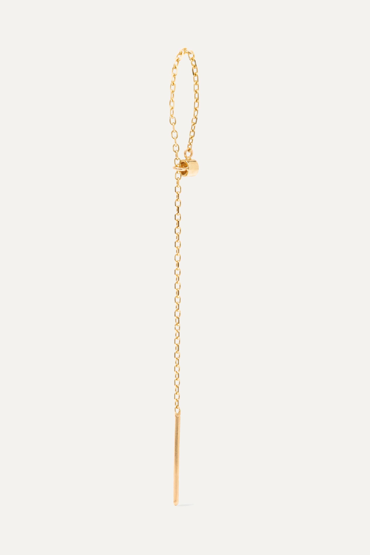 Catbird Greco Lariat gold diamond earring