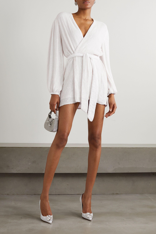 what wear rehearsal dinner - long sleeves white dress