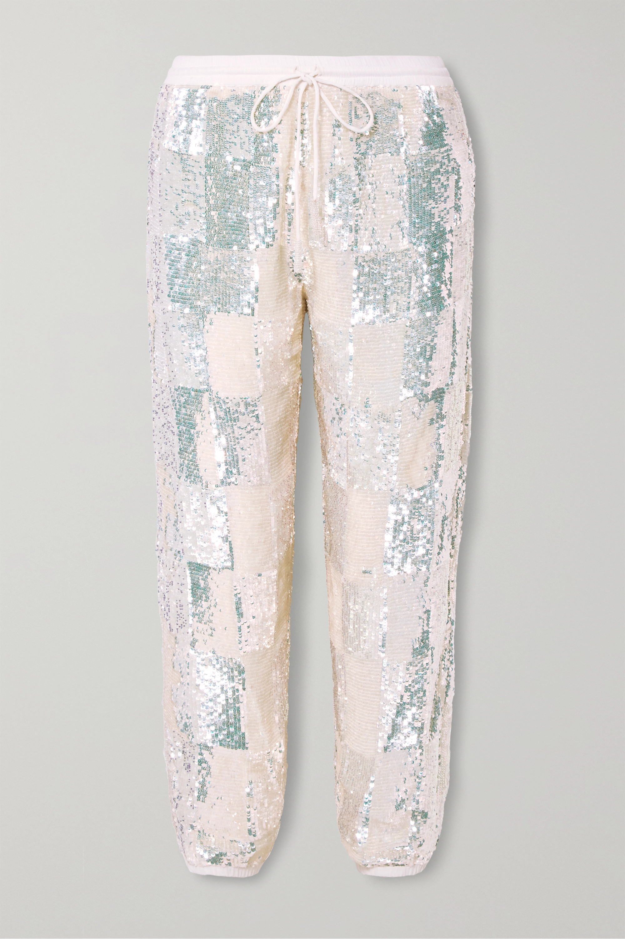 Retrofête Stacia sequined chiffon track pants
