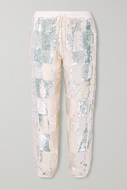 Stacia sequined chiffon track pants