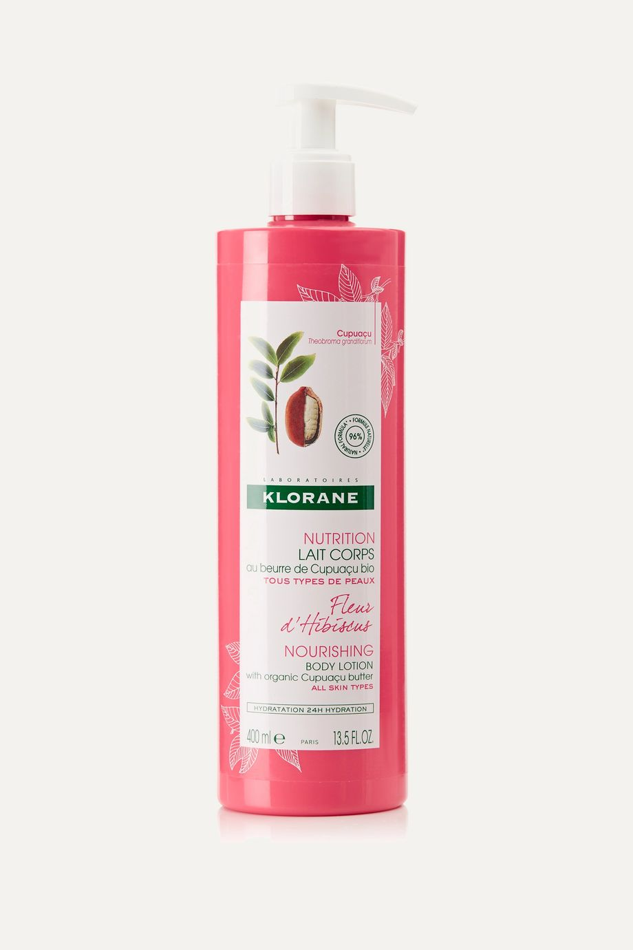Klorane Hibiscus Flower Body Lotion with Cupuaçu Butter, 400ml