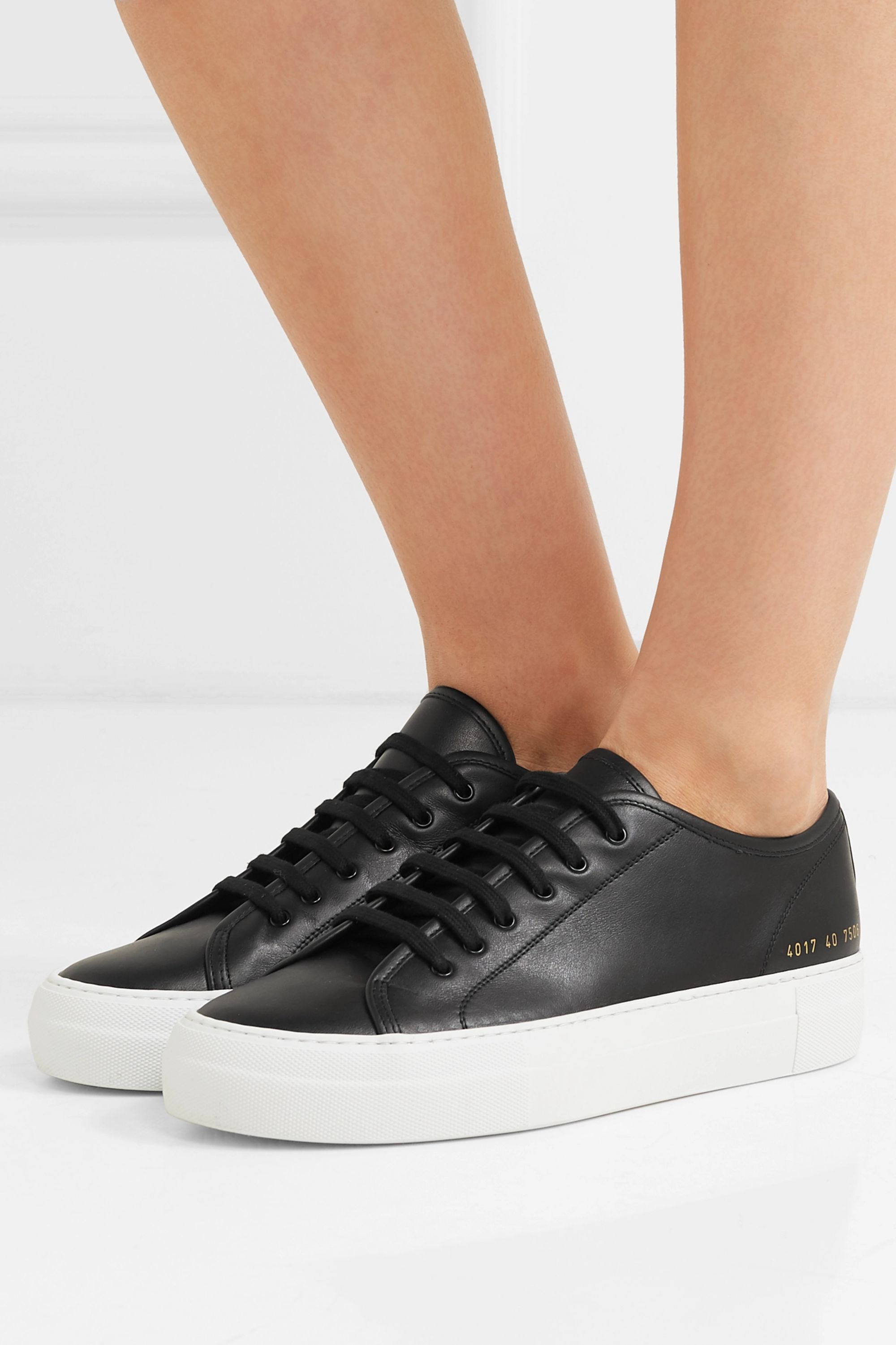 Black Tournament leather sneakers