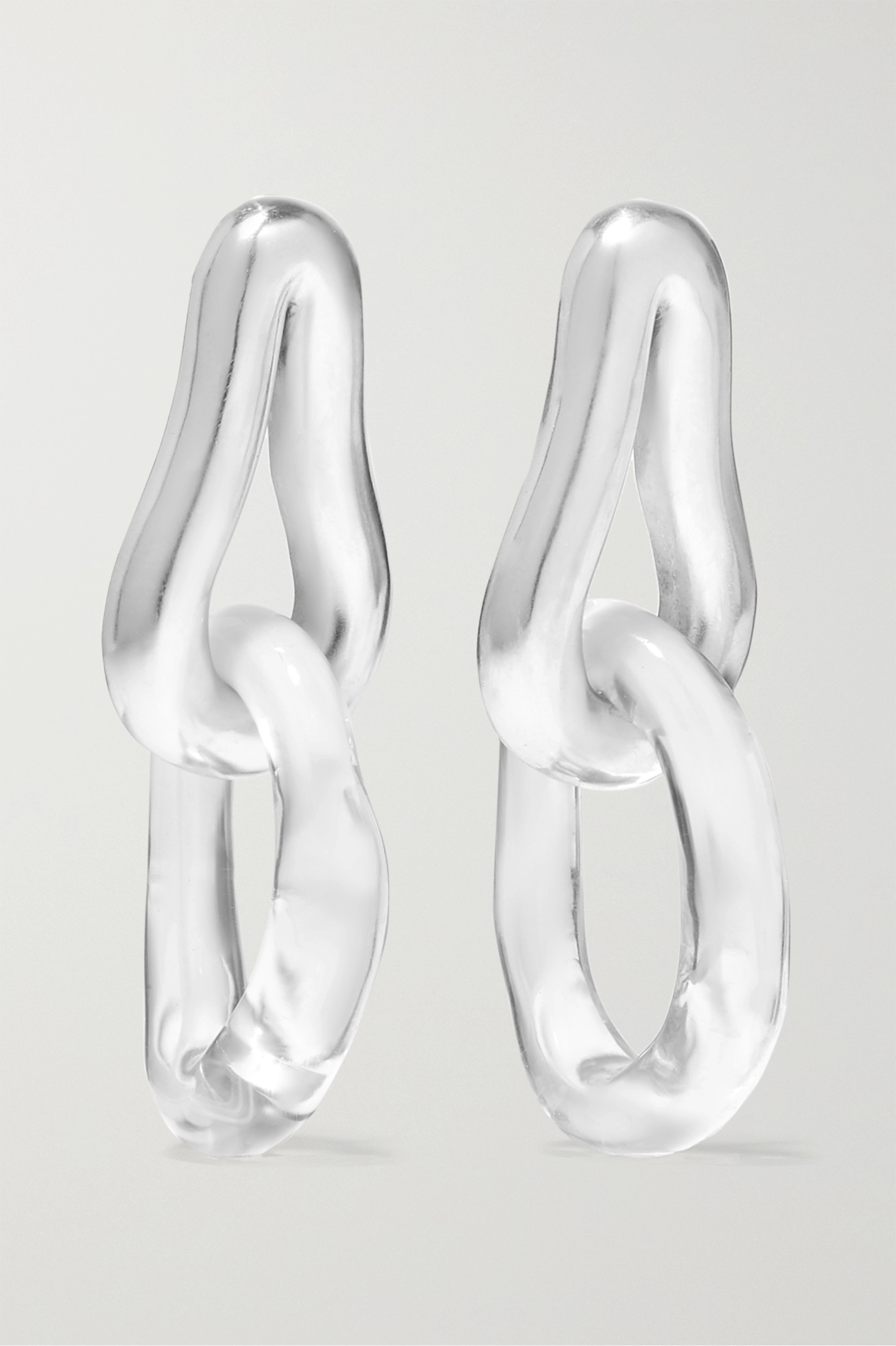 Leigh Miller + NET SUSTAIN rhodium-plated glass earrings
