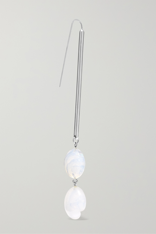 Leigh Miller + NET SUSTAIN Shoreline silver and glass earrings