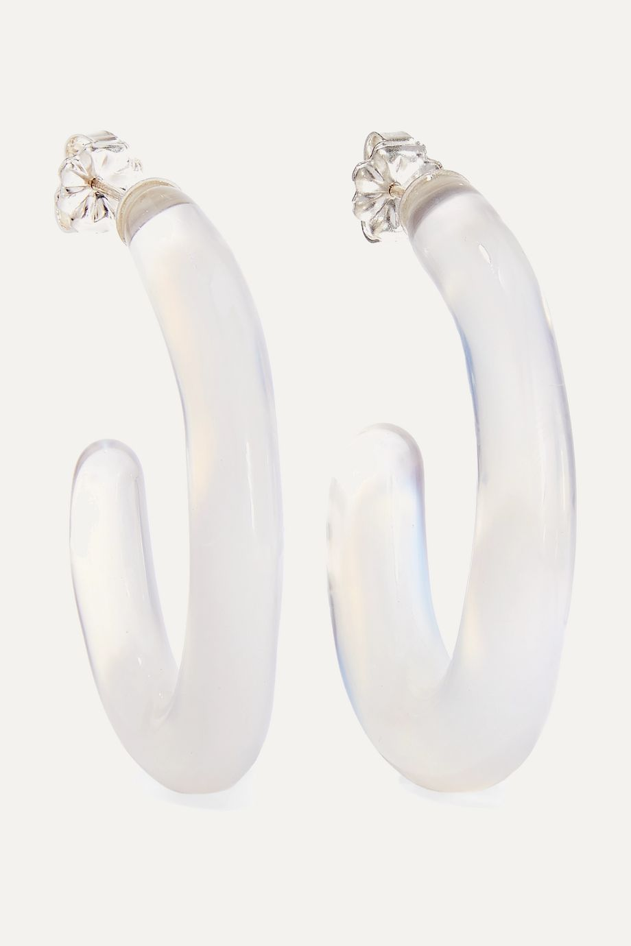 Leigh Miller + NET SUSTAIN Opaline glass hoop earrings