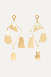 Galante gold-tone pearl earrings