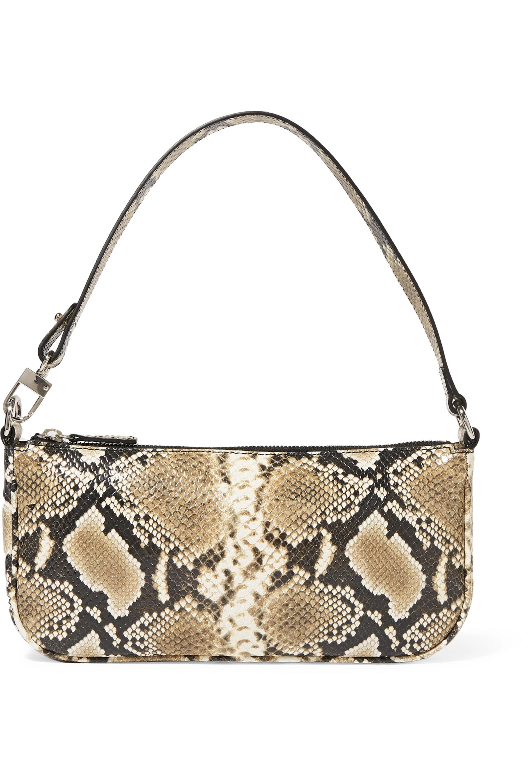 BY FAR Rachel snake-effect leather shoulder bag