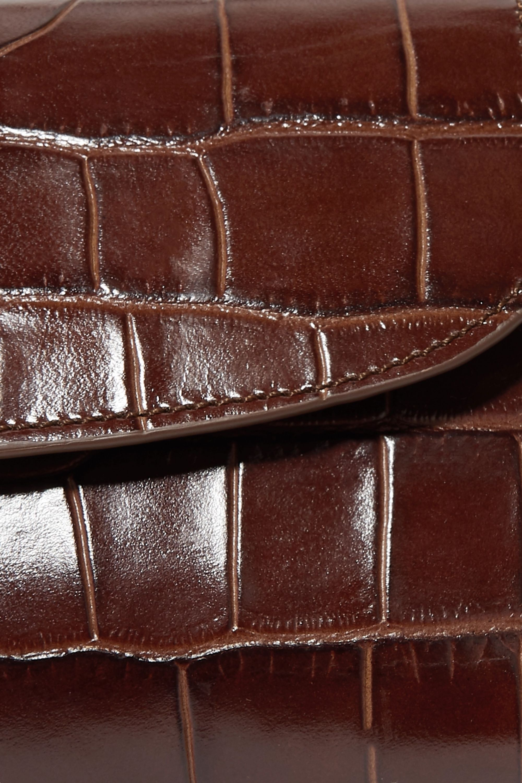 BY FAR Mini croc-effect leather tote