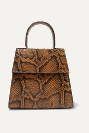 Monet snake-effect leather tote