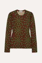 Molly Goddard Freddie polka-dot mesh top