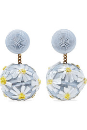 Forget Me Not cord and raffia earrings