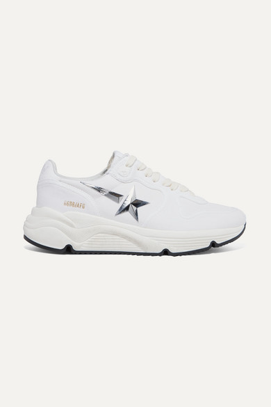 Golden Goose Sneakers Running Sole distressed canvas sneakers