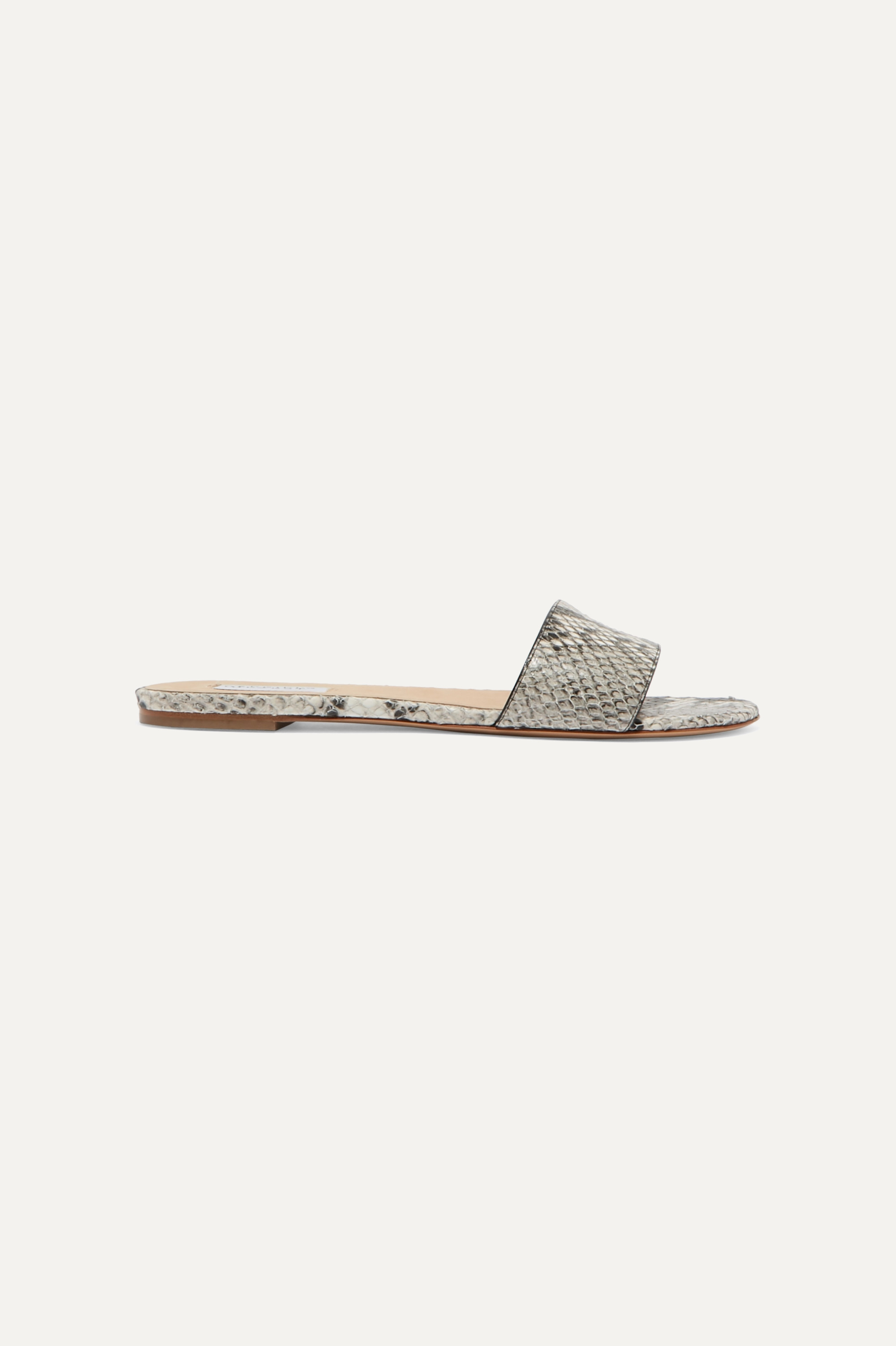 Gabriela Hearst Franzine snake-effect leather slides