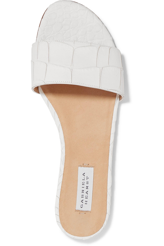 Gabriela Hearst Franzine croc-effect leather slides