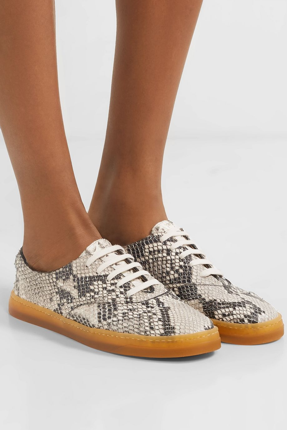 Gabriela Hearst Marcello snake-effect leather sneakers