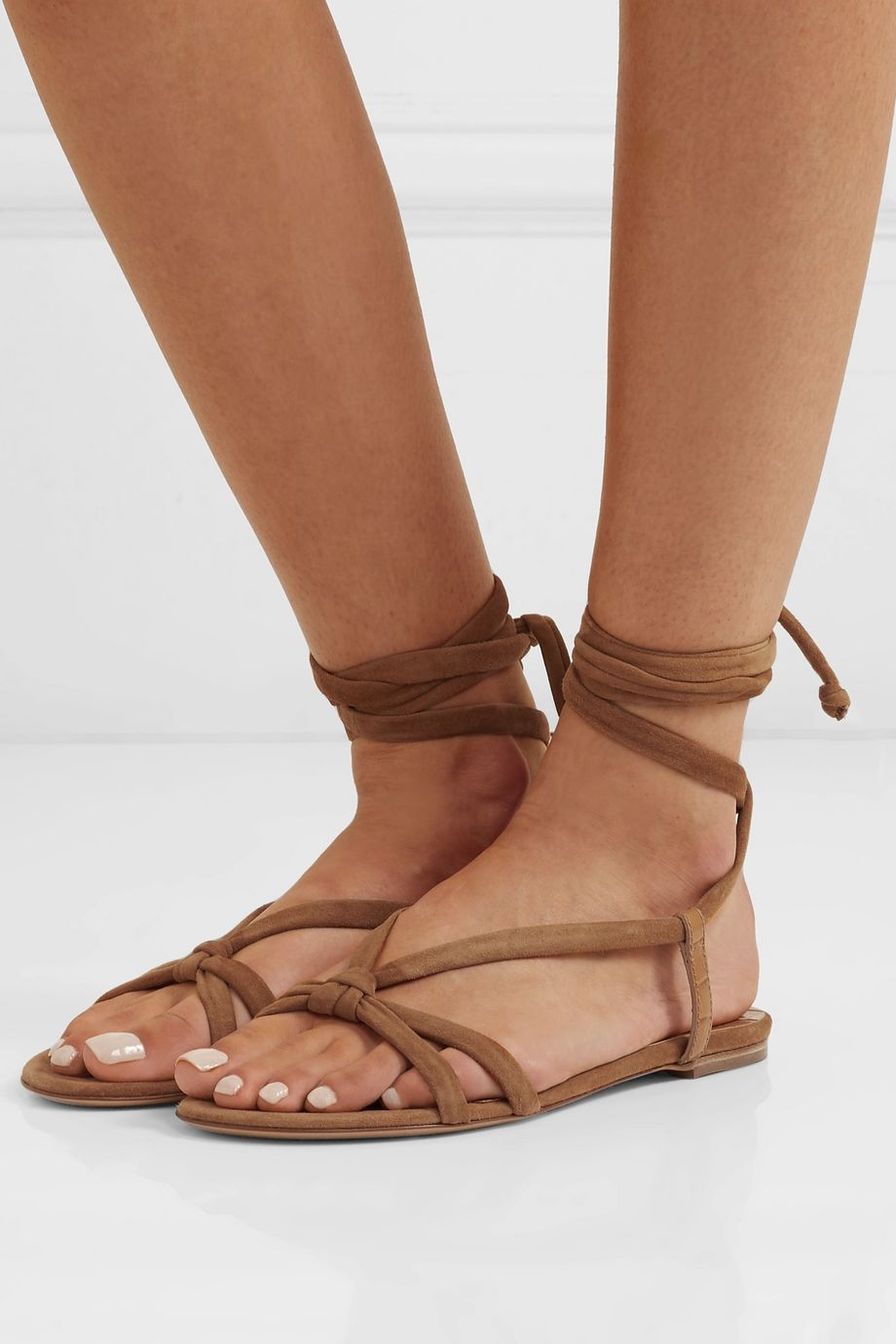 Gabriela Hearst Reeves suede and croc-effect leather sandals