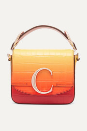 Chloé Chloé C ombré croc-effect leather shoulder bag