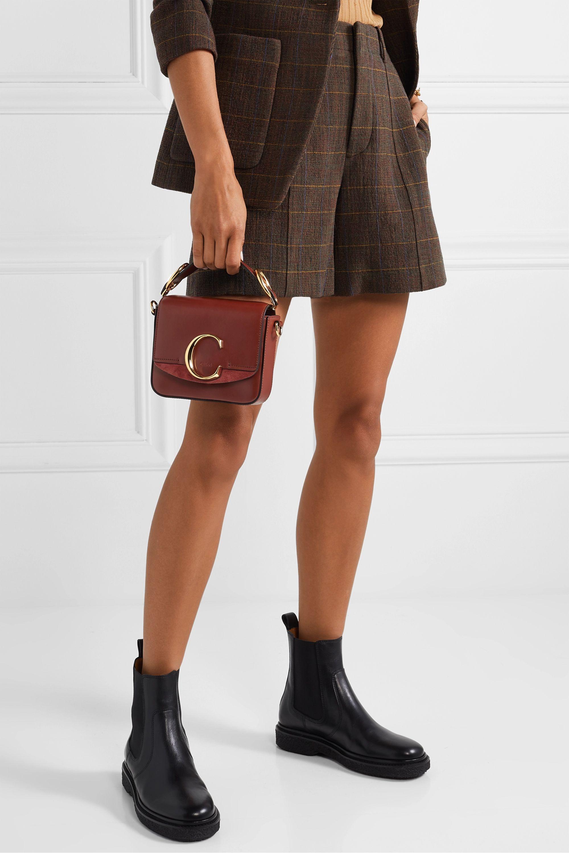 Chloé Chloé C 绒面革边饰皮革迷你单肩包