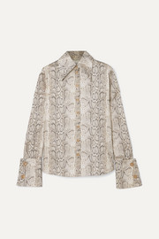 Tonie animal-print cotton-poplin shirt