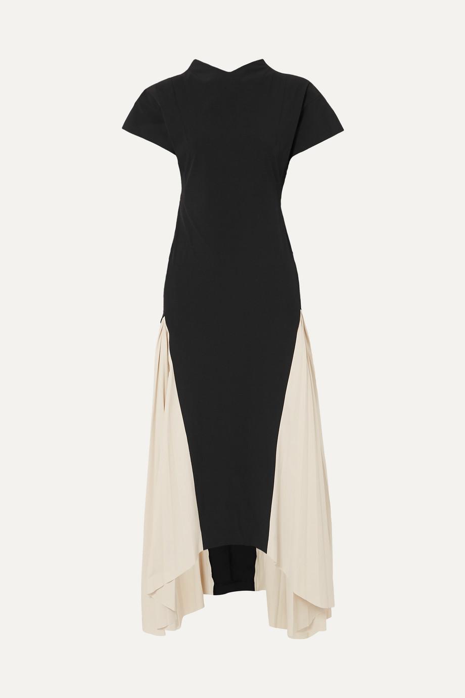 A.W.A.K.E. | Iris two-tone crepe de chine maxi dress | NET-A-PORTER.COM