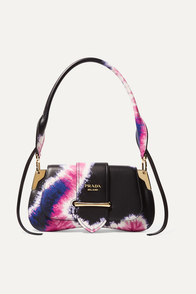 Sidonie small tie-dyed leather shoulder bag