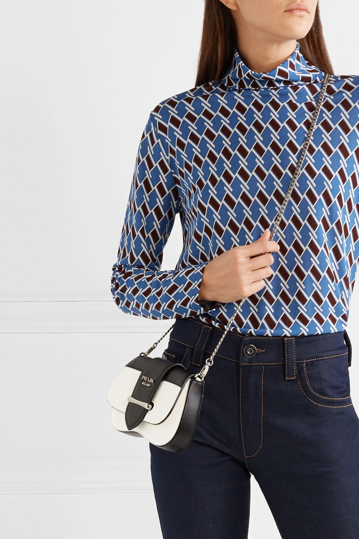 Prada Sidonie two-tone leather belt bag