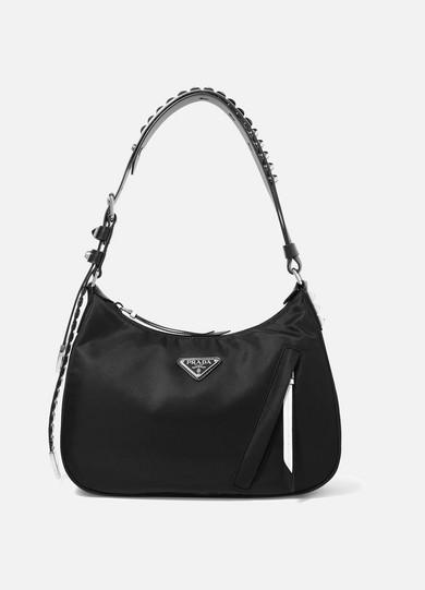 c02df916965c Prada | Vela studded leather-trimmed shell shoulder bag | NET-A ...