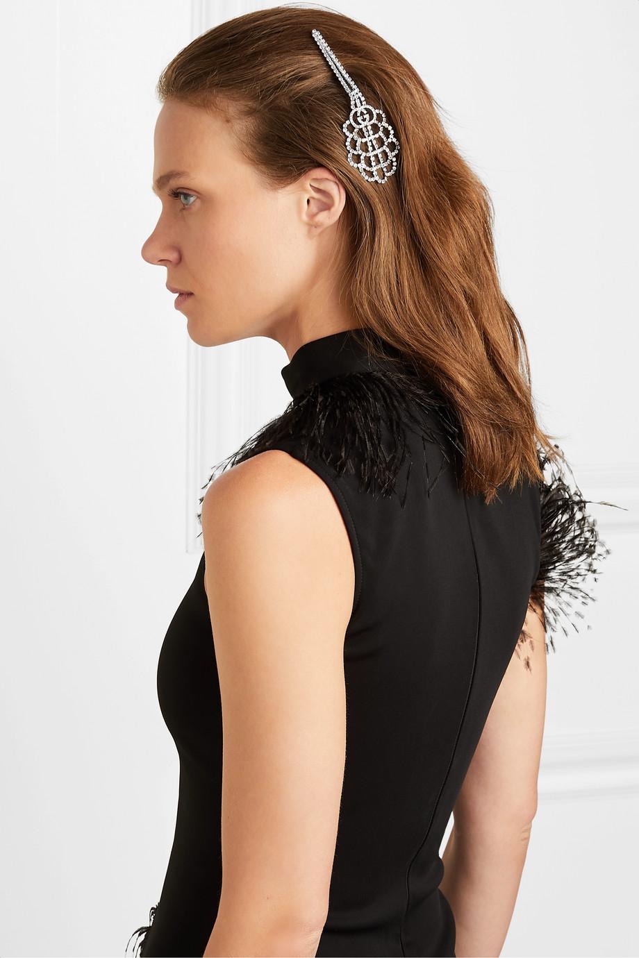 Gucci   Palladiumfarbene Haarnadel mit Kristallen