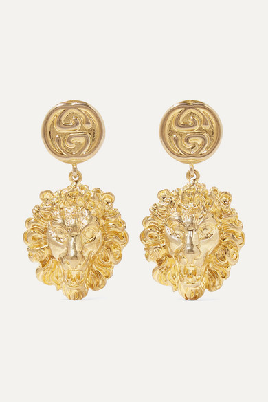 Gold Tone Earrings by Gucci