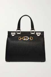 Zumi embellished textured-leather tote