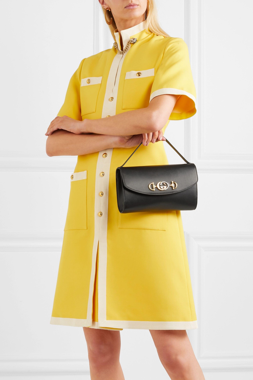 Gucci Zumi small embellished leather shoulder bag