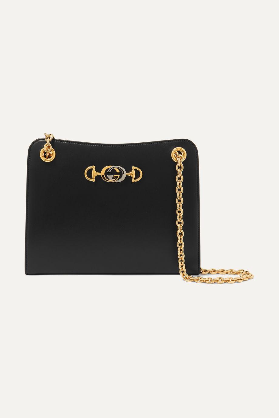 Gucci Zumi Schultertasche aus Leder mit Verzierung
