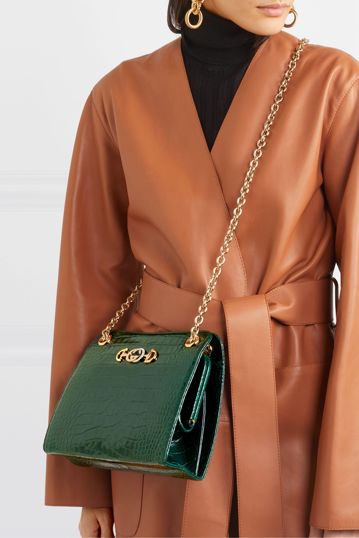 Gucci Zumi small embellished alligator shoulder bag
