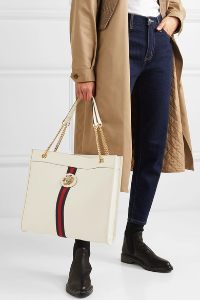c7cb8740a142 Gucci | Rajah large embellished textured-leather tote | NET-A-PORTER.COM