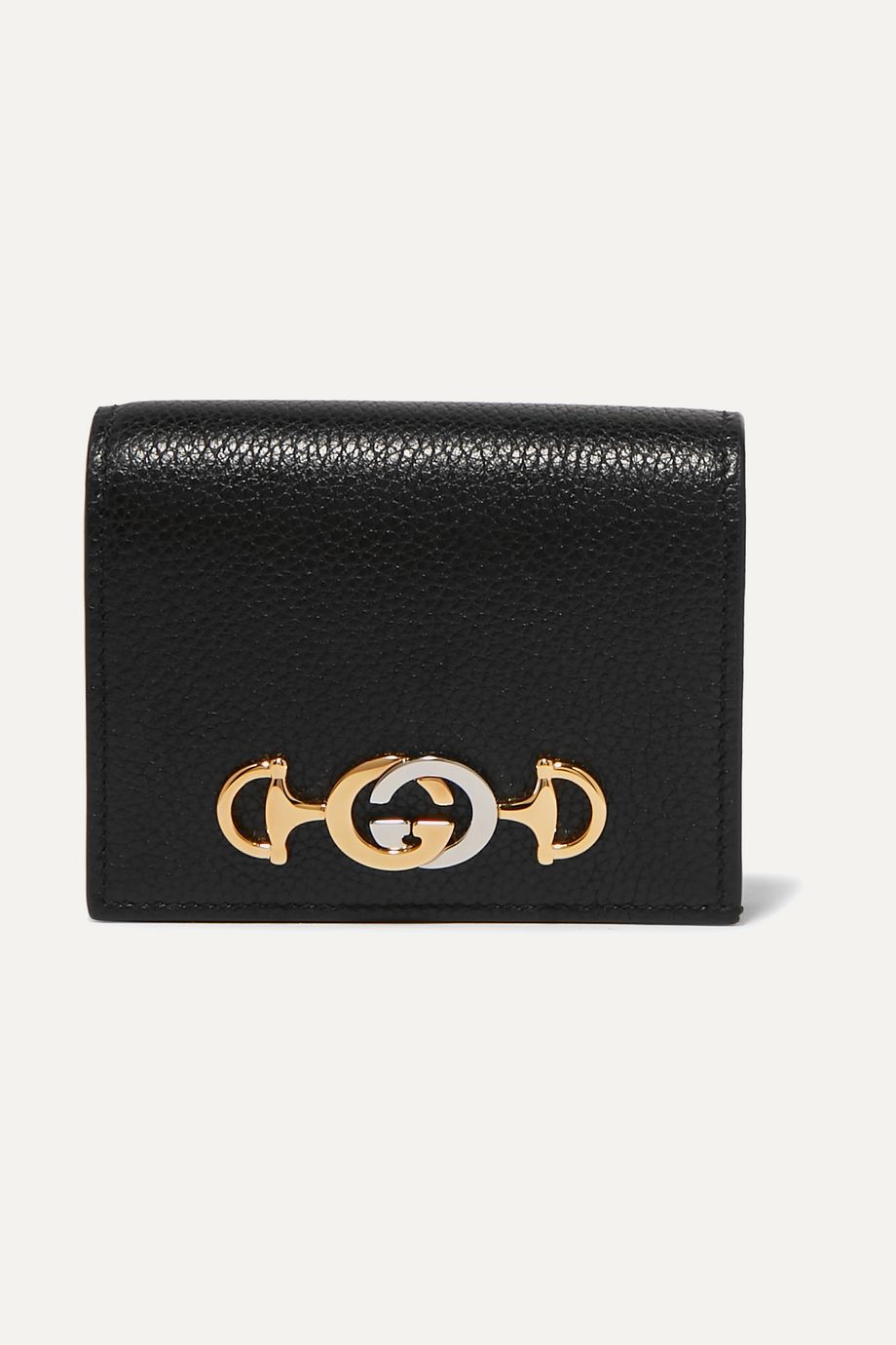 Gucci Zumi small embellished textured-leather wallet