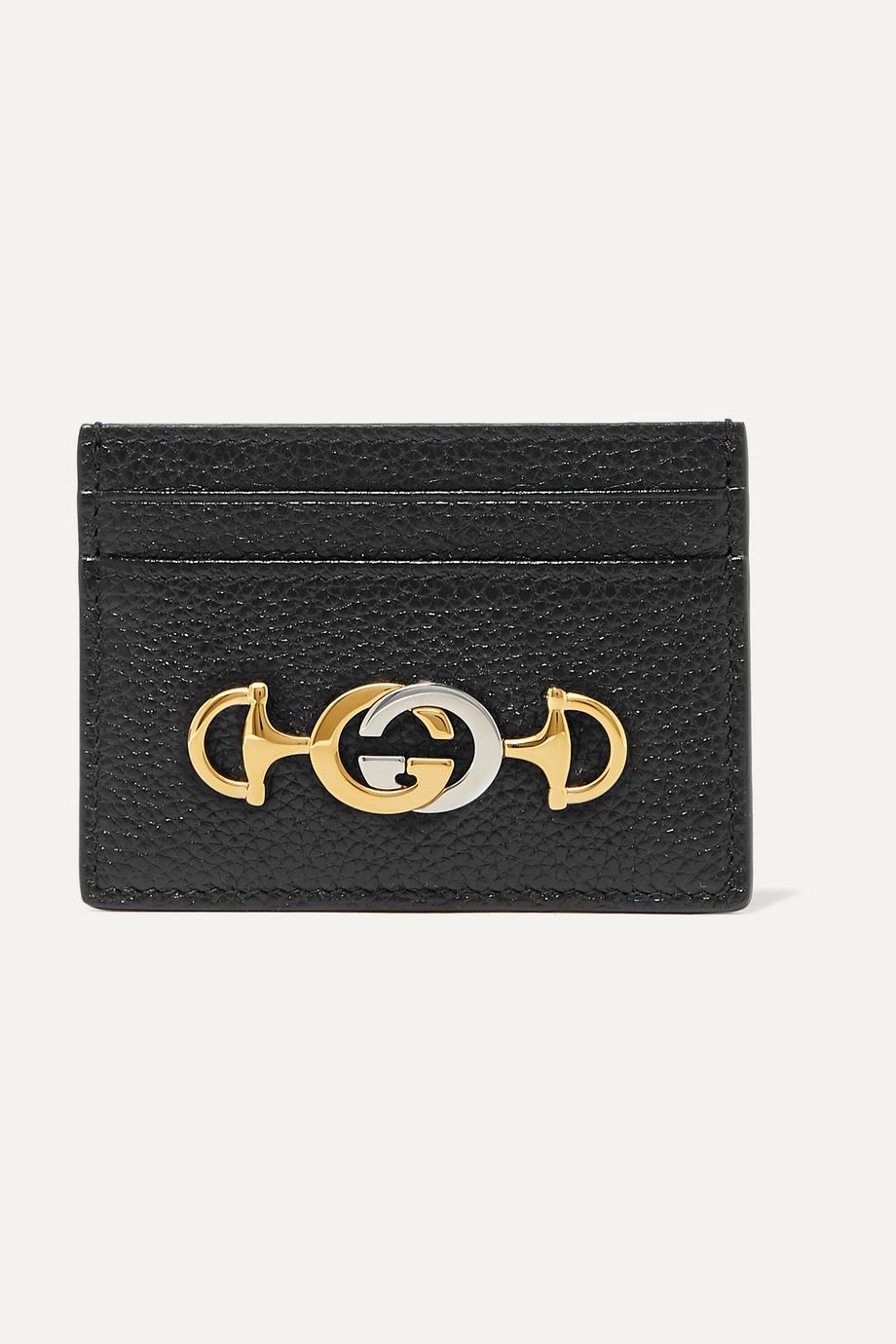 Gucci Zumi embellished textured-leather cardholder
