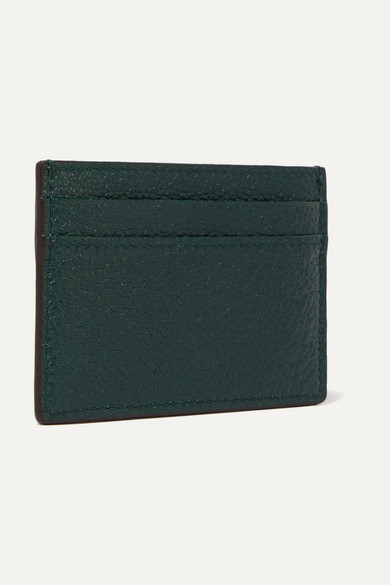 Gucci Wallets Zumi embellished textured-leather cardholder