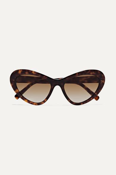 ANDY WOLF EYEWEAR | Andy Wolf - Blair Oversized Cat-Eye Tortoiseshell Acetate Sunglasses - One Size | Goxip