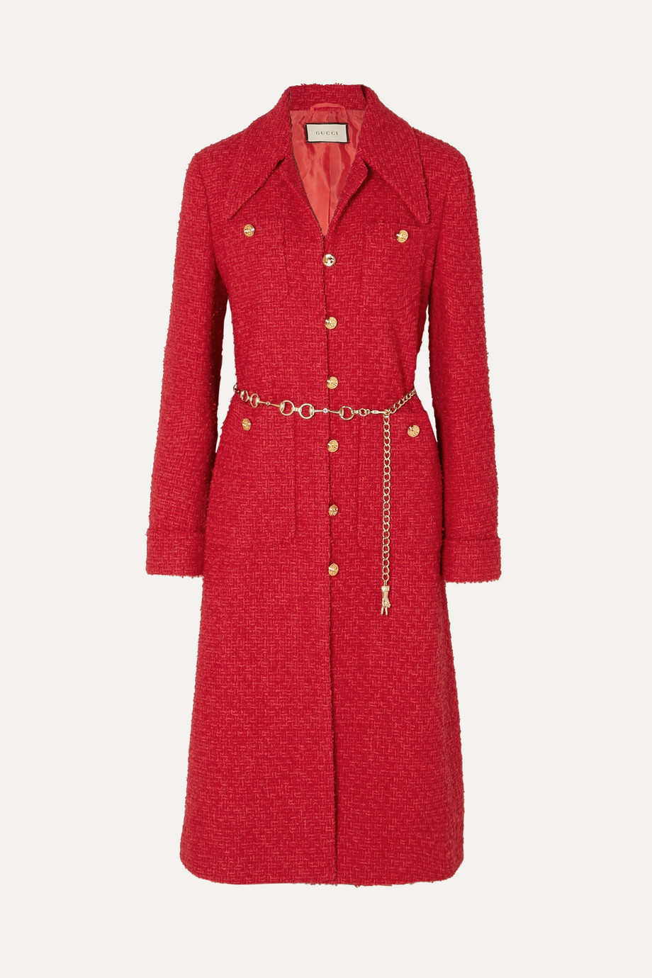 Gucci Belted tweed coat