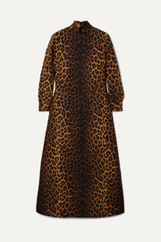 Gucci Leopard-print wool-blend maxi dress