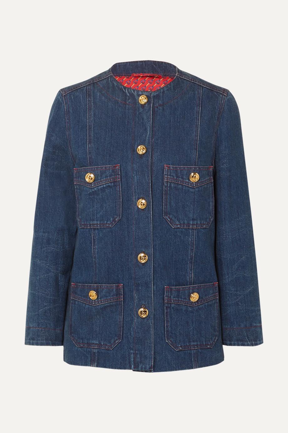 Gucci Button-embellished denim jacket