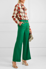 Gucci Wool-gabardine wide-leg pants