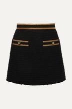 792d35d2403 Gucci Metallic-trimmed cotton-blend tweed mini skirt