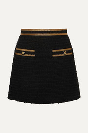 Gucci Metallic-trimmed cotton-blend tweed mini skirt