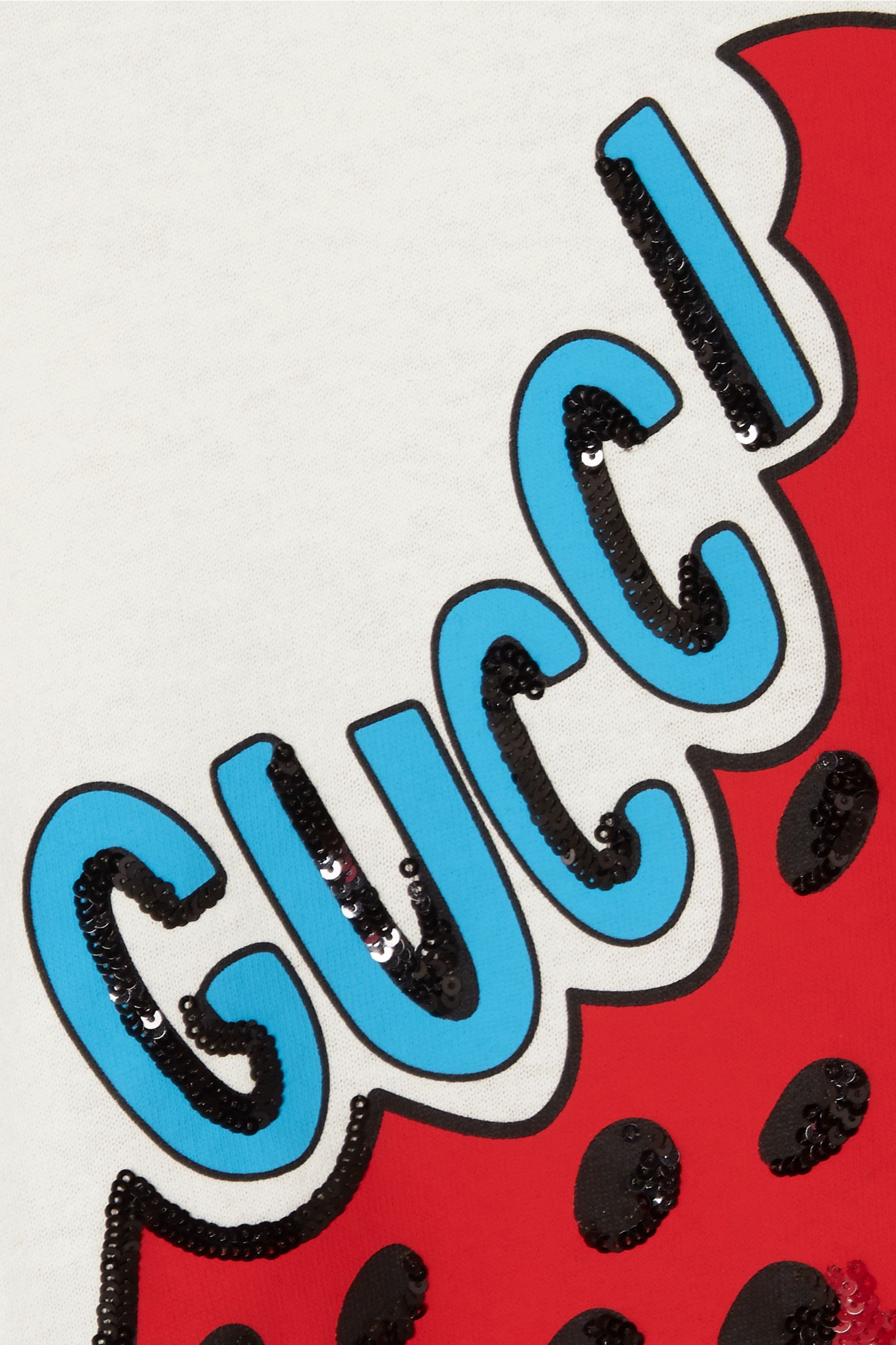 Gucci Sequined printed cotton-jersey T-shirt